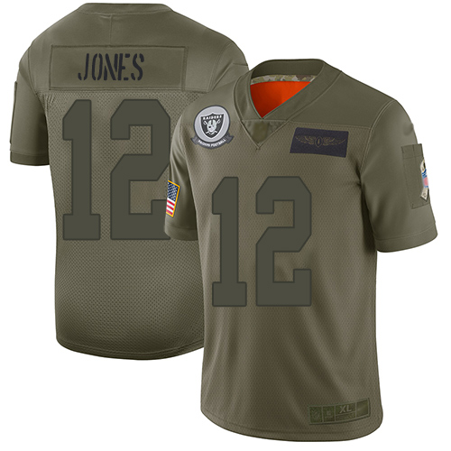 Nike Raiders #12 Zay Jones Camo Men's Stitched NFL wholesale Cardinals jersey
